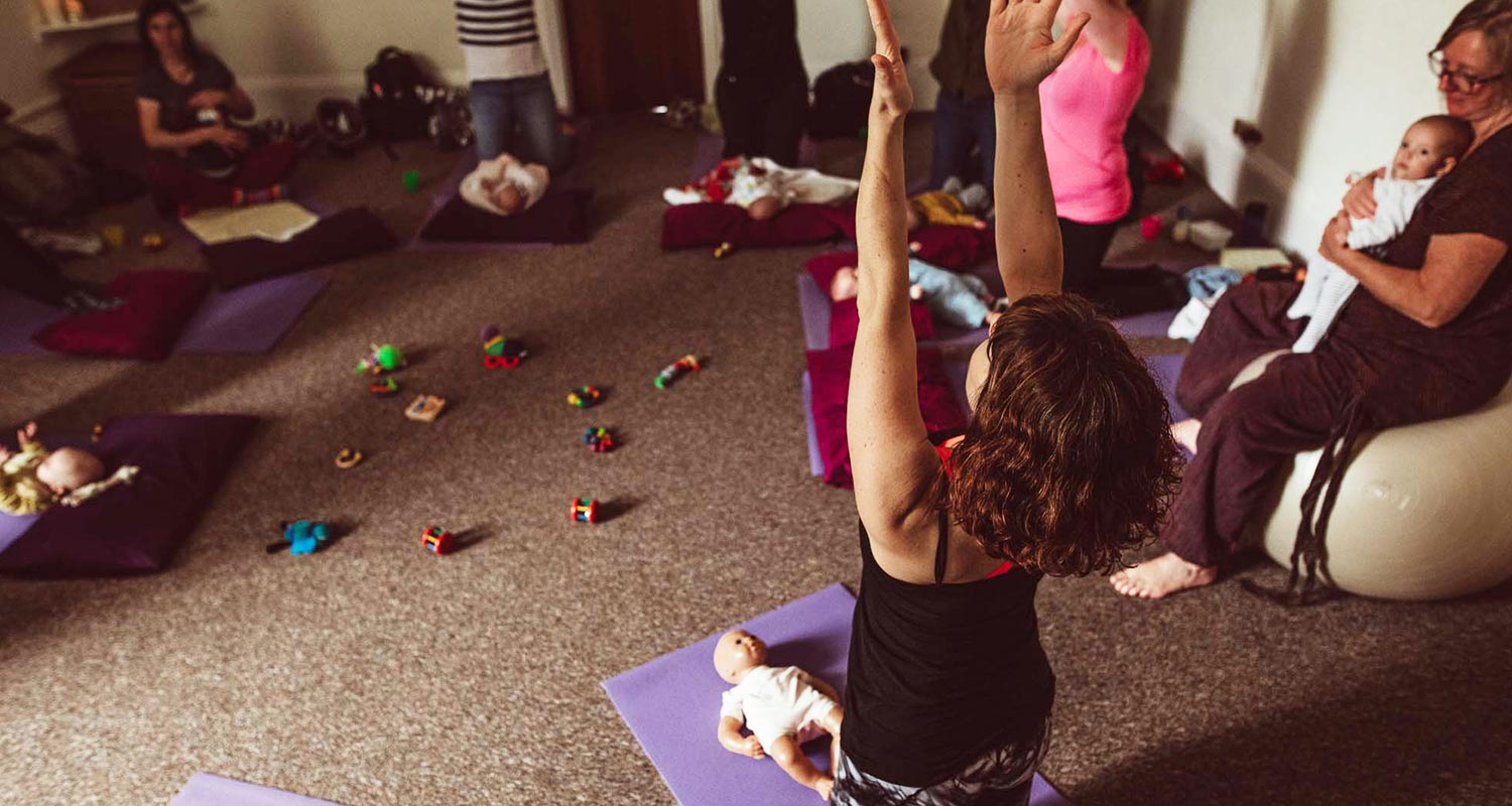 Motherhood yoga gathering